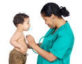 Lady Doctor With A Baby Stock Image - 2116891