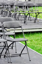 Rows Of Empty Chairs Outdoor Royalty Free Stock Images - 21105949