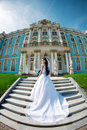 Luxury Bride Near Palace Stock Image - 21120361