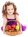 Girl With Fruit Stock Image - 21122551