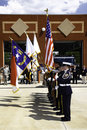 9 11 Ceremony Honor Guard With Colors Royalty Free Stock Photo - 21125635