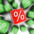 Red Percent Box Stock Photography - 21133202