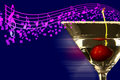 Martini With Music Notes! Royalty Free Stock Photos - 21138428