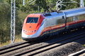 Italian High Speed Train Passing By Royalty Free Stock Photography - 21139017