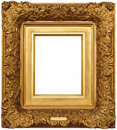 Gold Picture Frame Stock Photography - 21140632