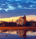 House At Sunset Royalty Free Stock Photos - 21144348