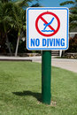 No Diving Sign Stock Image - 21155911
