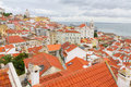 Over The Red Roofs Of Lisboa, Portugal Stock Images - 21166064