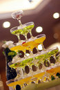 Champagne Glasses Tower Stock Photos - 21168963