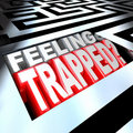 Feeling Trapped Maze Labyrinth Confused By Puzzle Royalty Free Stock Photography - 21169817