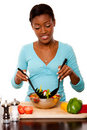 Health Conscious - Tossing Salad Stock Photo - 21180270