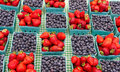 Baskets Of Strawberries And Blueberries Stock Image - 21192721