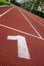 Number In The Red Track Royalty Free Stock Photos - 21194078