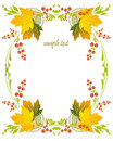Framework With A Pattern From Autumn Leaves And Be Royalty Free Stock Photo - 21209935