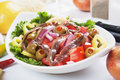 Anchovy Salad Royalty Free Stock Photos - 21211308