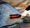 Hooligan Smashing Windshield Royalty Free Stock Photos - 21212268