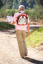 Senior Man Reading Map On Country Walk Royalty Free Stock Photos - 21235608