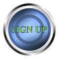 Sign Up Web Button Royalty Free Stock Image - 21262396