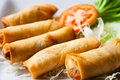 Fried Chinese Traditional Spring Rolls Food Stock Photography - 21267342