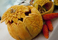 Beautifully Carved Pumkins Stock Image - 21304621