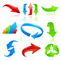 Arrow Icon Set In Colors Royalty Free Stock Photography - 21314097