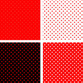Seamless Pattern Pois Red And Black Royalty Free Stock Photo - 21337755