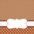 Brown Background, Polka Dots - Card Or Invitation Royalty Free Stock Photography - 21346207