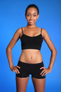Fit Athletic African American Sports Woman Torso Royalty Free Stock Images - 21347859