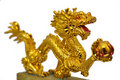 Golden Dragon Royalty Free Stock Photography - 21363507