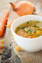 Vegetable Soup With Pasta Royalty Free Stock Photo - 21367065