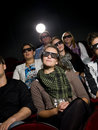 Cinema Spectators With 3d Glasses Royalty Free Stock Photography - 21373867