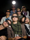 Cinema Spectators With 3d Glasses Stock Images - 21373884