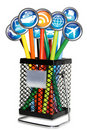 Travel Bin Internet Concept Royalty Free Stock Images - 21381269