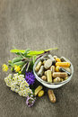 Herbal Medicine And Herbs Stock Photo - 21382170