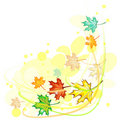 Wind And Maple Leaves Stock Photo - 21387030