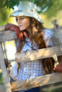Beautiful Cowgirl In Stetson Royalty Free Stock Photos - 21394018