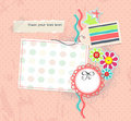 Vector Scrapbook Pagge For Girl Album Stock Images - 21397654