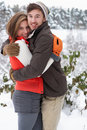 Young Couple In Snow Royalty Free Stock Photo - 21399015