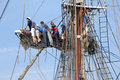 Sailors In The Rigging Stock Image - 21421191