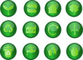 Green Eco Icons Stock Photography - 21421472