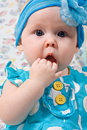 Portrait Of Beautiful Infant Girl Royalty Free Stock Photography - 21453057