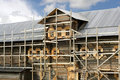 Building Of Russian Wooden House Royalty Free Stock Image - 21453996