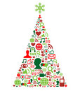 Christmas Tree With Social Media Icons Royalty Free Stock Images - 21457239