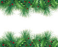 Pine Branches With Holly Royalty Free Stock Images - 21465459