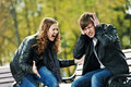 Anger In Young People Relationship Conflict Stock Photos - 21469693