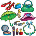 Women Accessories Icon Set Royalty Free Stock Photography - 21478857