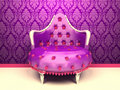 Luxurious Armchair Isolated On Wallpaper Royalty Free Stock Images - 21482809