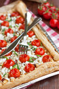 Cherry Tomatoes Tart Royalty Free Stock Images - 21483929
