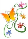 Butterfly Flowers Clip Art 01 Royalty Free Stock Image - 2158506