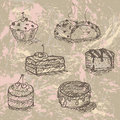 Hand Drawn Cakes Stock Image - 21516081